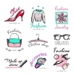 Fashion Goods Logo Set vector
