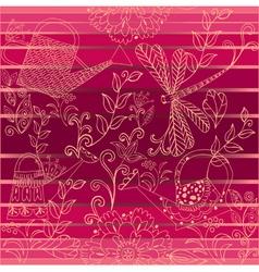 floral background1 vector image