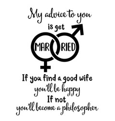 Funny quote about marriage vector