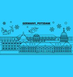 germany potsdam winter holidays skyline merry vector image