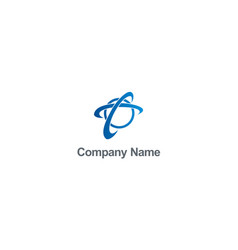 globe round orbit connection company logo vector image