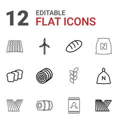 grain icons vector image