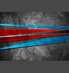 grunge tech material red blue and grey background vector image