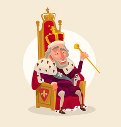 happy smiling king man character vector image vector image