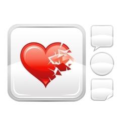 Happy Valentines day romance love Broken heart vector image