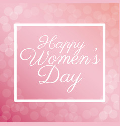 happy womens day poster bubbles background vector image