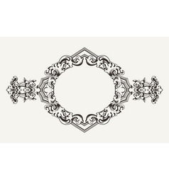 high ornate old romb frame vector image