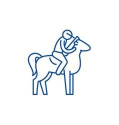 horseback riding line icon concept horseback vector image