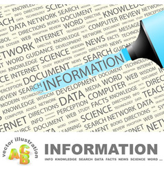 INFORMATION vector image