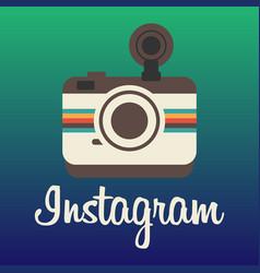 Instagram logo background image vector