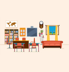Interior of room for teacher interior items vector
