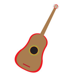 Isolated guitar instrument vector