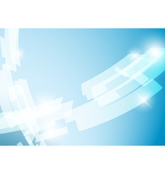 light blue abstract background with shiny figures vector image