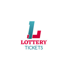 lottery tickets icon vector image