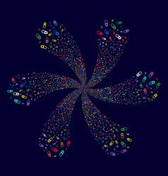 Love granule twirl stream vector
