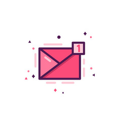 love message icon happy valentines day flat vector image