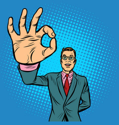 man ok gesture vector image