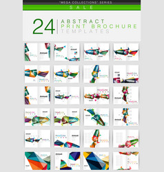 Mega collection of geometrical business vector
