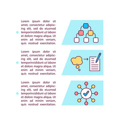 Mind mapping concept icon with text vector