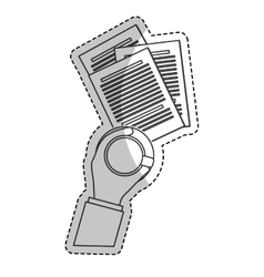 Paper documents icon vector