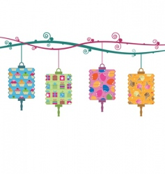 Party lanterns vector