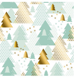 pastel tender christmas tree seamless pattern vector image