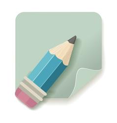 pencil retro icon vector image