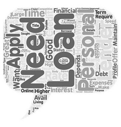 Personal Loan For You text background wordcloud vector image