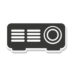 Player video projector isolated icon vector