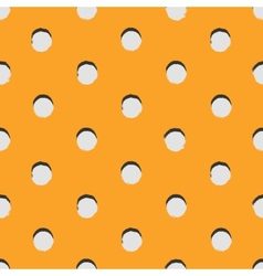 Polka dot colorful painted seamless pattern vector