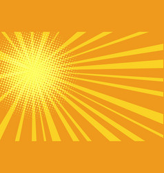 Pop art retro yellow orange background vector