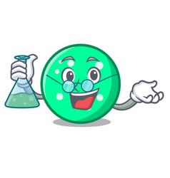 Professor circle character cartoon style vector