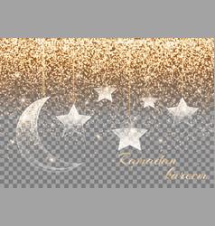 Ramadan kareem arabic art vector
