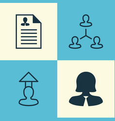 resources icons set collection of hierarchy vector image