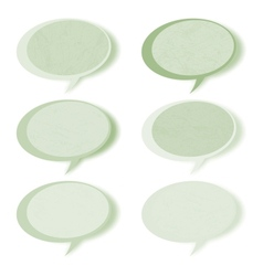 Retro speech bubbles set with copy space EPS 8 vector image