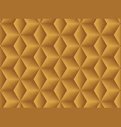 Seamless pattern gold geometric hexagon tiles vector