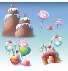 Set of caramel vector image