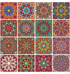 Set of ethnic patterns vector image