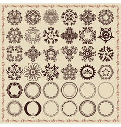 Set of vintage design elements and frames vector