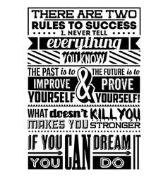 Set retro vintage motivational quotes vector