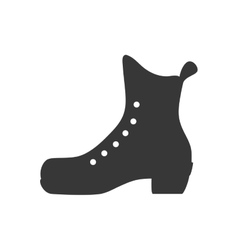 skate shoe winter sport hobby icon graphic vector image