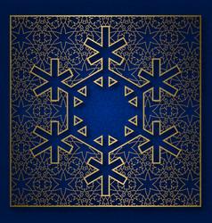 snowflake shape patterned background vector image