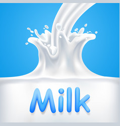 Splashes of milk vector