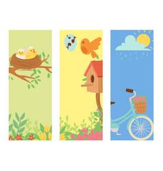 spring natural floral blossom banner gardening vector image