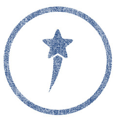 Starting star rounded fabric textured icon vector