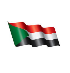sudan flag on a white vector image