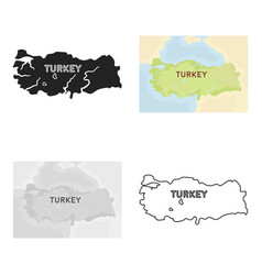 territory of turkey icon in cartoon style isolated vector image