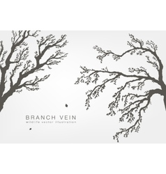 tree branches with leaves and wood vector image