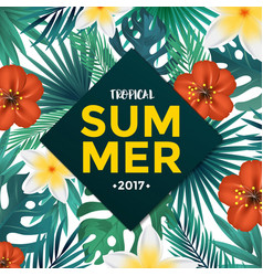 tropical poster 5 vector image