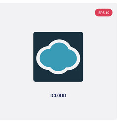 two color icloud icon from user interface concept vector image